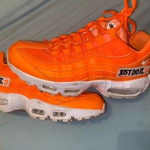 Neon orange airmax 95